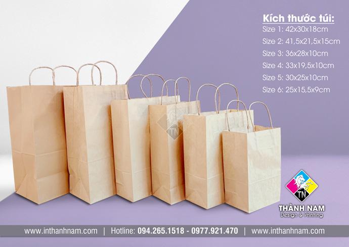 In và cung cấp túi giấy Kraft có sẵn giá rẻ nhất tại Hà Nội