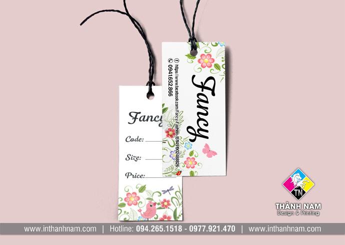 In thẻ bài, in tag quần áo giá rẻ, đẹp tại Hà Nội